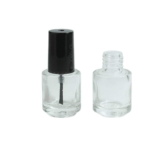 Round Glass 5ml Bottles with Brush - ekoface