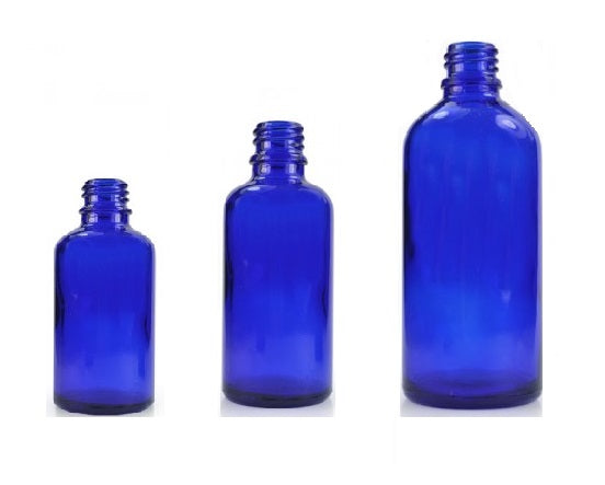Blue Glass Bottles - ekoface