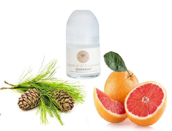 Grapefruit & Cedarwood Roll-on Deodorant 50ml - ekoface