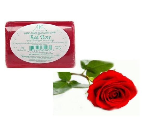 Red Rose Clear Vegetable Glycerin Soap 125g - ekoface
