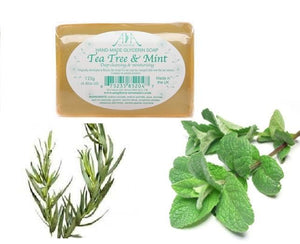 Tea Tree & Mint Clear Vegetable Glycerin Soap 125g - ekoface