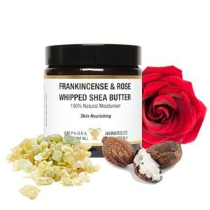 Whipped Frankincense and Rose Shea Butter 120ml - ekoface