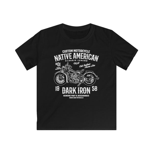 Native American 1958 Dark Iron Kids Softstyle Tee