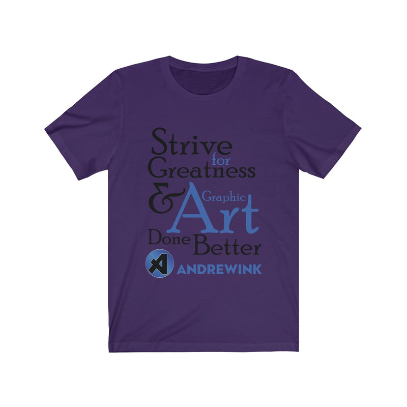 Graphic Art Andrewink Blue Version Unisex Jersey Short Sleeve Tee