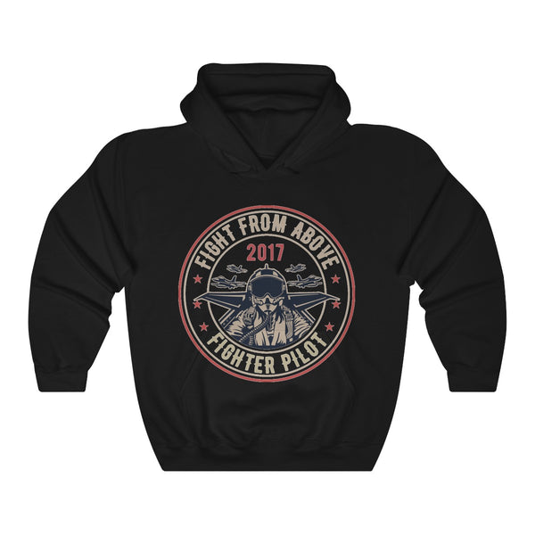 Fight From Above Fighter Pilot Unisex Heavy Blend™ Hooded Sweatshirt