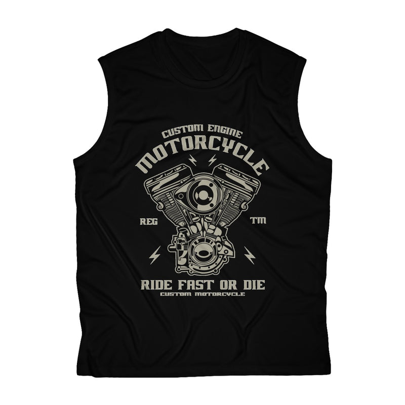 Motorcycle First Or Die Men's Sleeveless Performance Tee