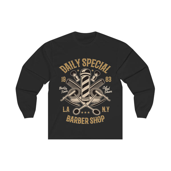 Daily Special Barber Shop Unisex Long Sleeve Tee
