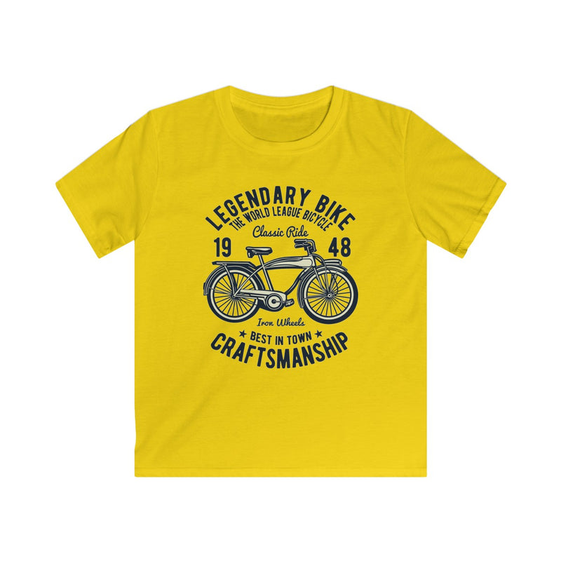 Legendary Bike 1948 Craftsmanship Kids Softstyle Tee