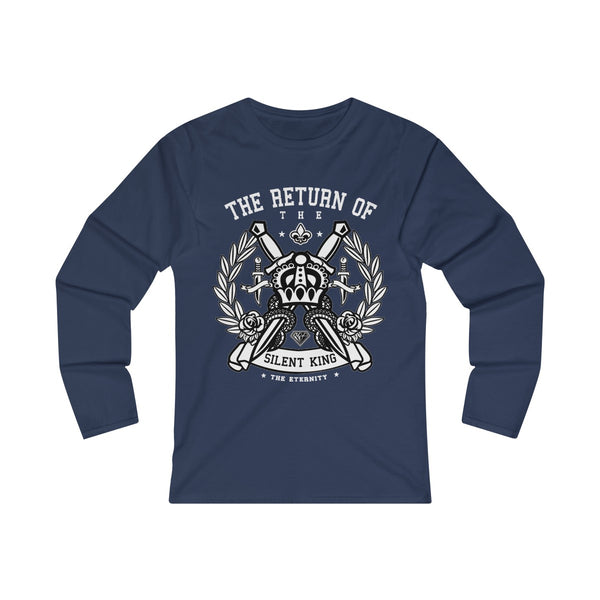 The Return Of The Silent King Women's Fitted Long Sleeve Tee