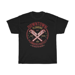 Downtown Plumbers Protect Unisex Heavy Cotton Tee