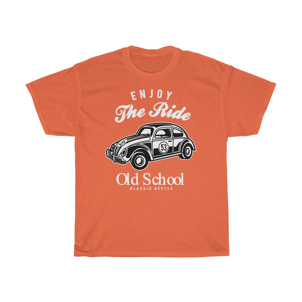 Enjoy The Ride Old School Unisex Heavy Cotton Tee