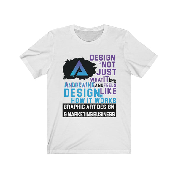 Andrewink Design How It Works Unisex Jersey Short Sleeve Tee