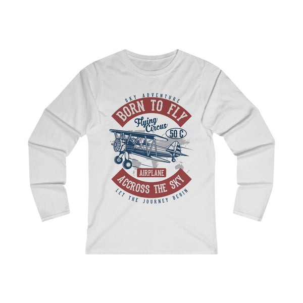 Born To Fly Across The Sky Women's Fitted Long Sleeve Tee