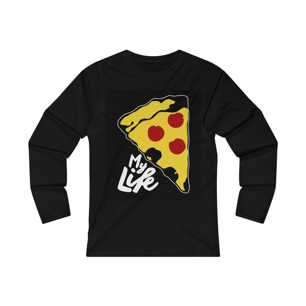 Love Pizza Women's Fitted Long Sleeve Tee
