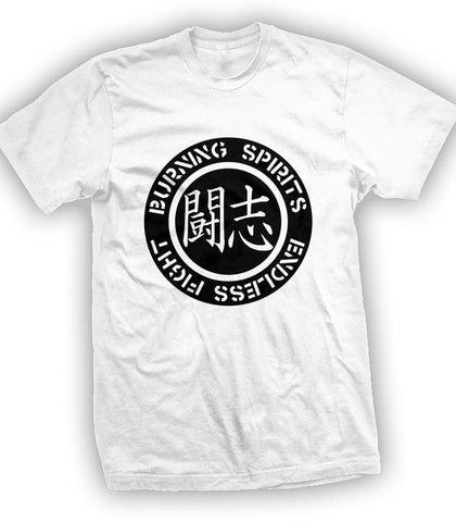 "Burning Spirits ""Logo"" White"