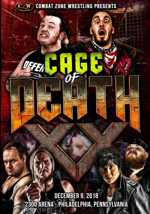 "CZW ""Cage Of Death XX"" 12/09/2018 DVD"
