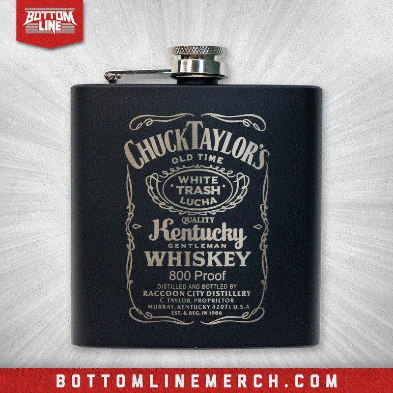 "Chuck Taylor ""Kentucky Gentleman"" Black Flask"