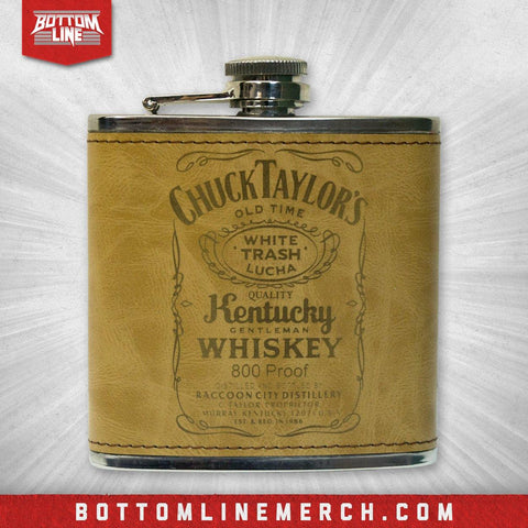 "Chuck Taylor ""Kentucky Gentleman"" Faux Leather Flask"