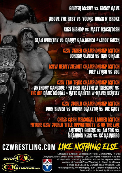 "CZW ""Down With The Sickness"" 09/13/2019 DVD"