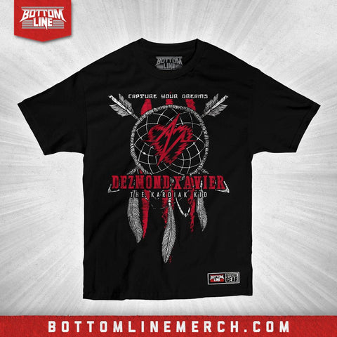 "Buy Now – Dezmond Xavier ""Dreamcatcher"" Shirt – Wrestler & Wrestling Merch – Bottom Line"