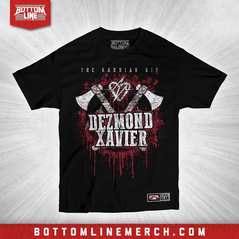 "Buy Now – Dezmond Xavier ""Hatchet"" Shirt – Wrestler & Wrestling Merch – Bottom Line"