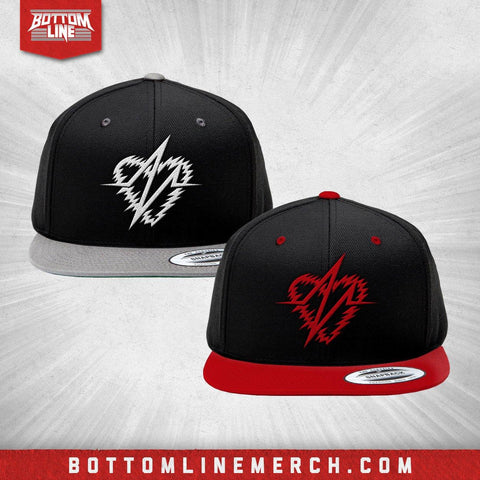 "Buy Now – Dezmond Xavier ""Heart Logo"" Snapback – Wrestler & Wrestling Merch – Bottom Line"