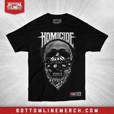 "Buy Now – Homicide ""Barbed Wire Skull"" Shirt – Wrestler & Wrestling Merch – Bottom Line"