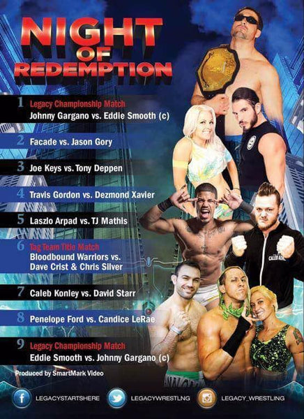 "Legacy Wrestling ""Night of Redemption"" DVD (04/30/2016)"