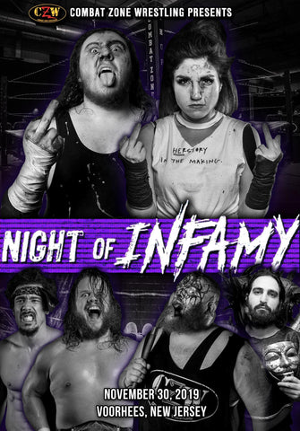 "CZW ""Night of Infamy 2019"" 11/30/2019 DVD"
