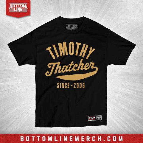 "Timothy Thatcher ""Vintage Fight"" Black Shirt"