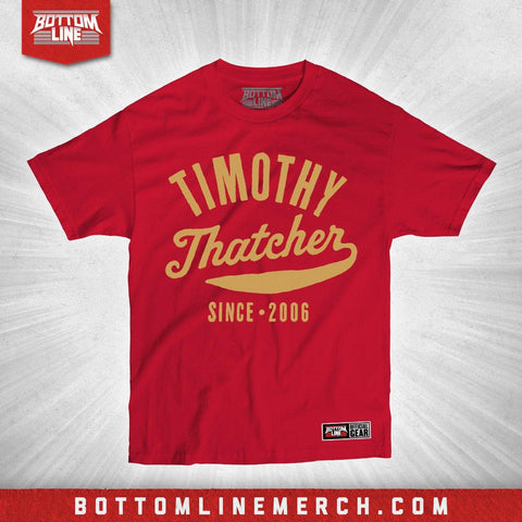 "Timothy Thatcher ""Vintage Fight"" Red Shirt"