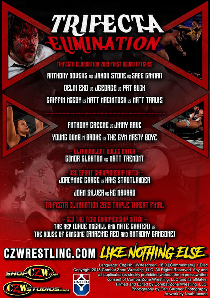 "Buy Now – CZW ""Trifecta Elimination"" 3/2/2019 DVD – Bottom Line"