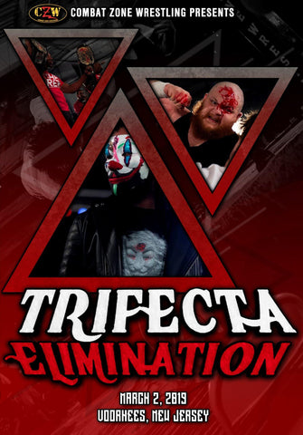 "Buy Now – CZW ""Trifecta Elimination"" 3/2/2019 DVD – Wrestler & Wrestling Merch – Bottom Line"