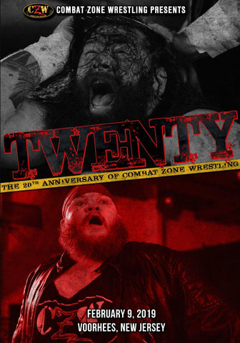 "Buy Now – CZW ""Twenty"" 2/9/2019 DVD – Wrestler & Wrestling Merch – Bottom Line"