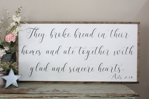 They Broke Bread In Their Homes Acts 2:46 Crafty Mama Gifts