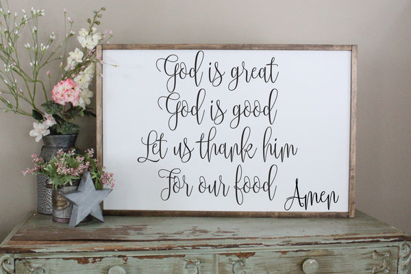 God is great dinner prayer Crafty Mama Gifts