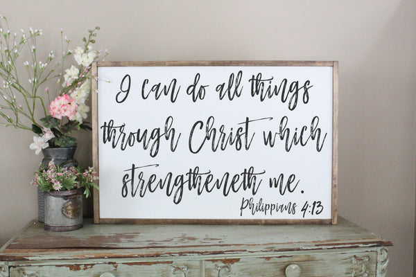 I can do all things through Christ Philippians 4 Crafty Mama Gifts