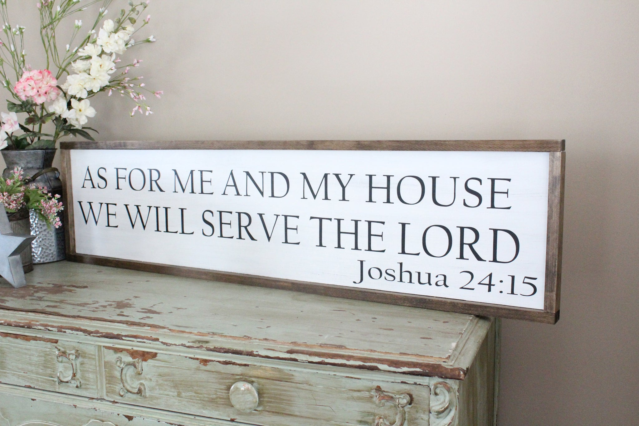 As For Me And My House Joshua 2415 Sign Crafty Mama Gifts