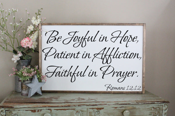 be joyful in hope Romans 12:12 Crafty Mama Gifts