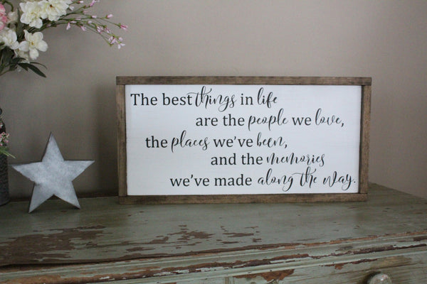 the best things in life are the people Crafty Mama Gifts