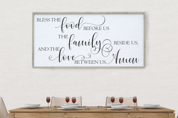 Bless the food framed sign Crafty Mama Gifts