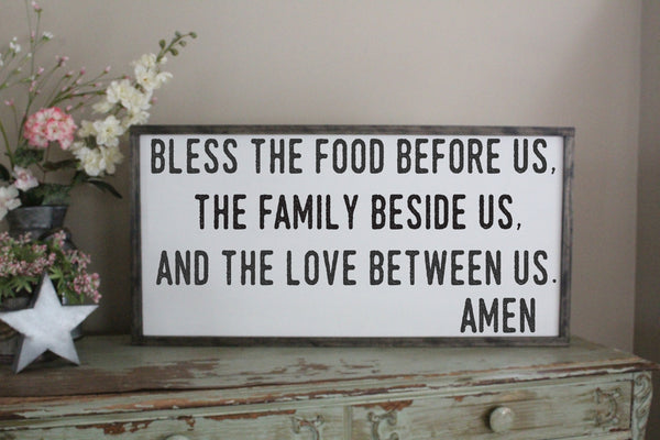 bless the food dinner prayer sign crafty mama gifts