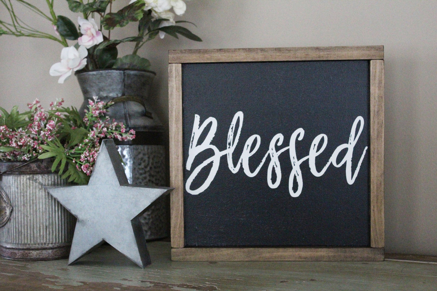 blessed words of affirmation inspirational sign crafty mama gifts