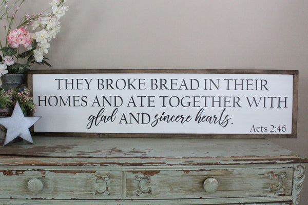 They Broke Bread Acts 2:46 Crafty Mama Gifts
