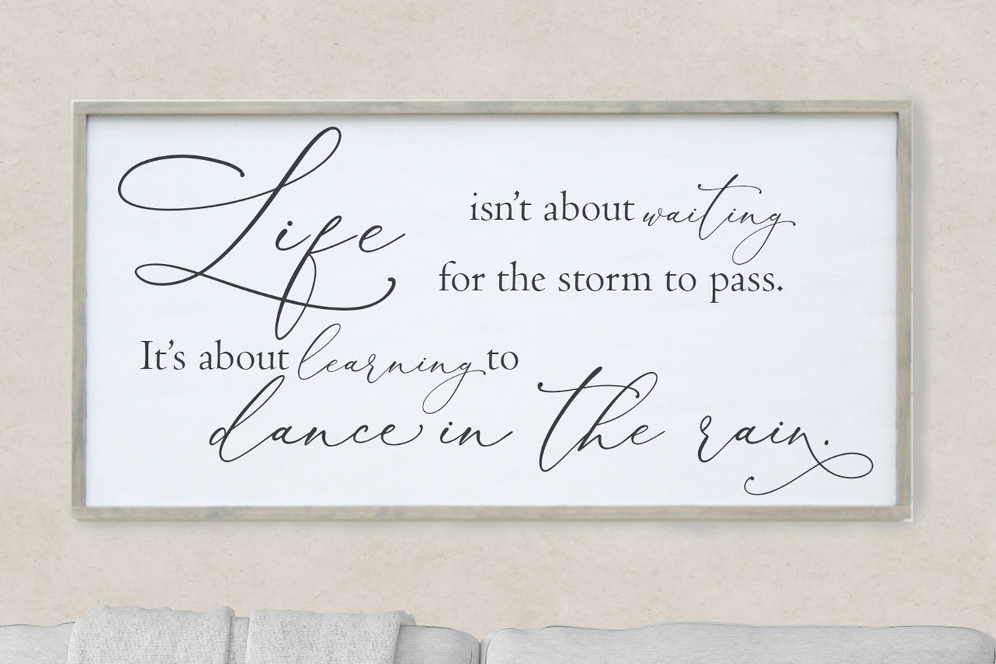 Life Isn't About Waiting For The Storm To Pass, It's About Learning To Dance In The Rain Crafty Mama Gifts