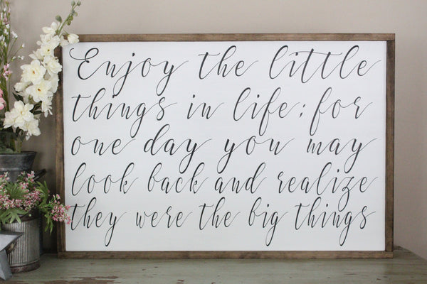 enjoy the little things sign crafty mama gifts\