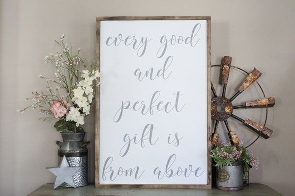 every good and perfect gift is from above Crafty Mama Gifts