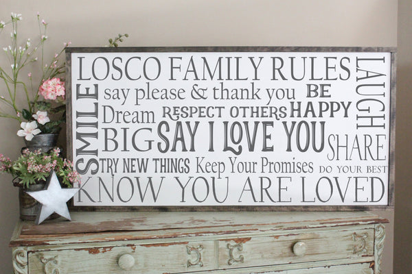 family rules sign crafty mama gifts