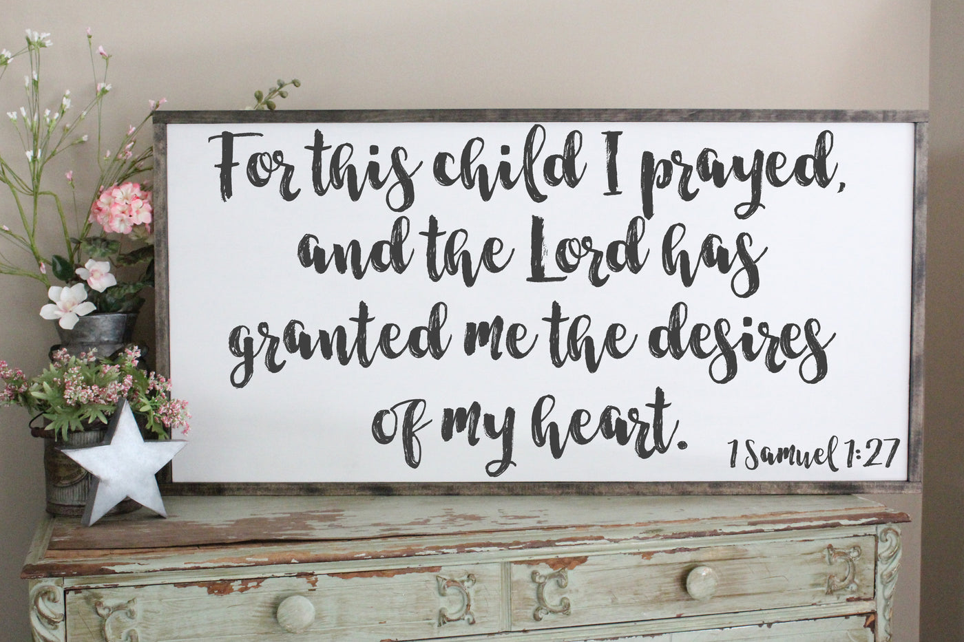for this child I prayed 1 samuel 1:27 crafty mama gifts