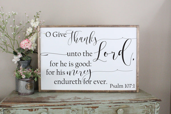 give thanks to the Lord Psalm 107 Crafty Mama Gifts
